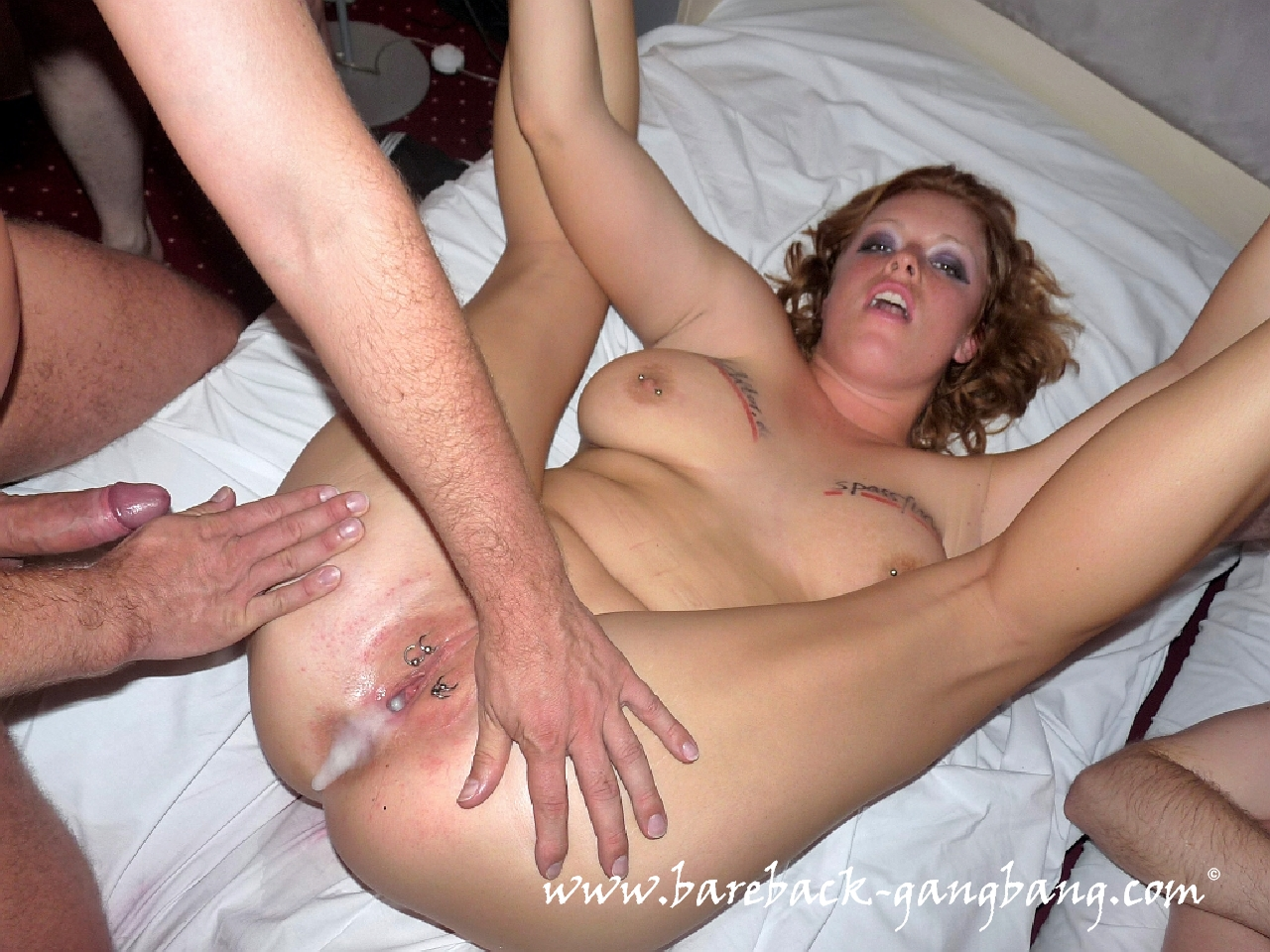 Couple bed dildo lesbian
